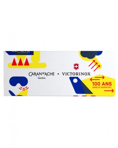 Boite avec logo Caran d'Ache et Victorinox