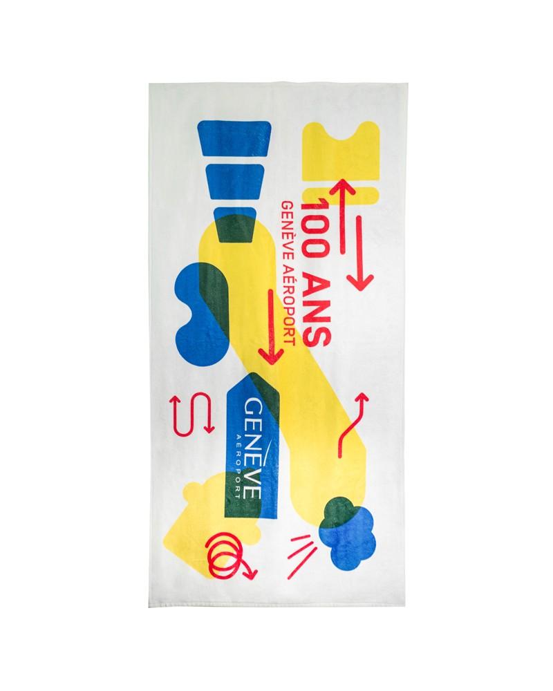 Linge/serviette au couleurs des 100 ans